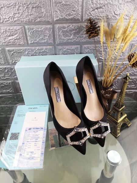 Women Silk Plain Wedding Shoes Thin Low Heel Women Party Shoe Comfort Evening Black blue red green Slip