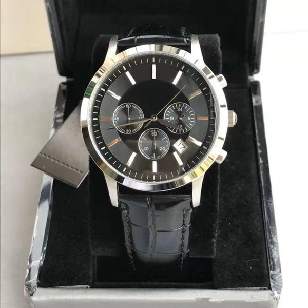 The Latest Fashion Leisure Men's Watches of 2019 Military Quartz Sports Watches Genuine Leather Watchband Men's Watches Aristocrats