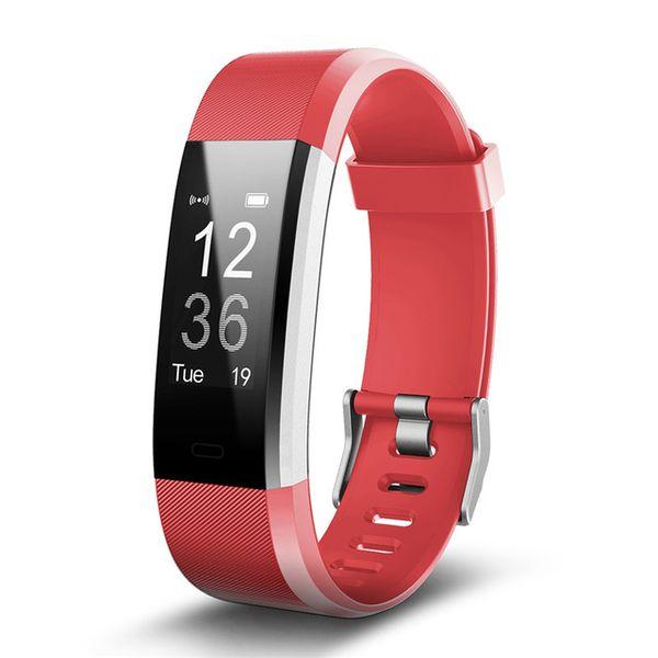 ID115PLUS GPS Smart Bracelet Heart Rate Monitor Waterproof Smart Watch Fitness Tracker Wristwatch Wearable For IOS Android Phone Watch