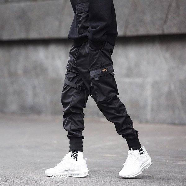 Men Multi-pocket Elastic Waist Design Harem Pant Men Streetwear Punk Hip Hop Casual Trousers Joggers Male Dancing Pant 2019 SA-8