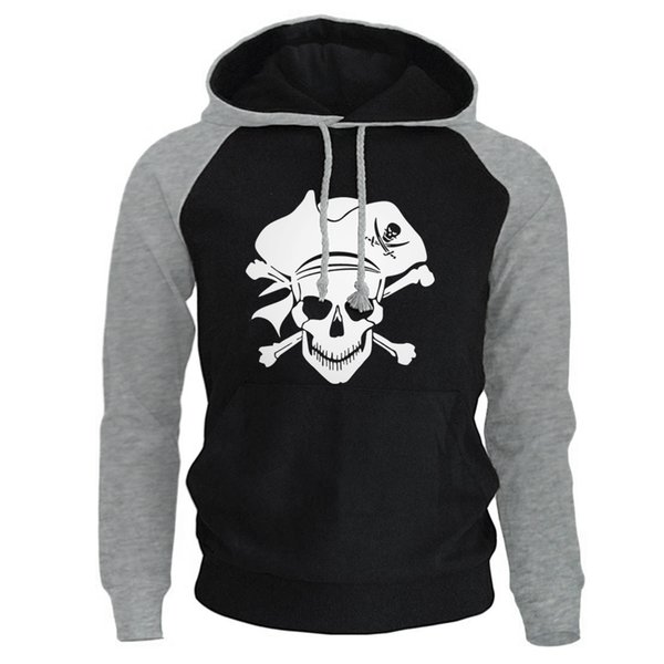 Anime One Piece Sweatshirts Hip Hop Streetwear Spring Raglan Hoodies Men 2019 Hot Sale Men's Hoodie Skull Punk Sportswear Hoody