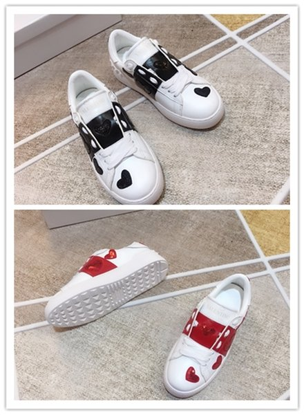 High Name Brand men's and women's leather graffiti low to help red rivet shoes tennis shoes fashion sports rivet shoes box 35-44