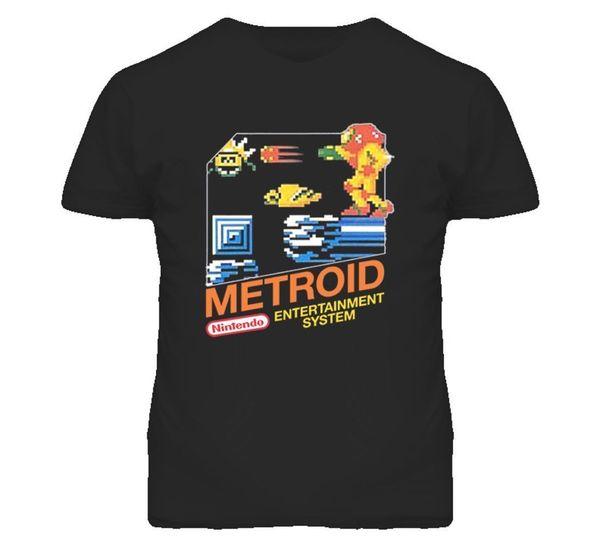 Metroid NES BOX Art Video Game T Shirt frete grátis Unisex Casual Tshirt top