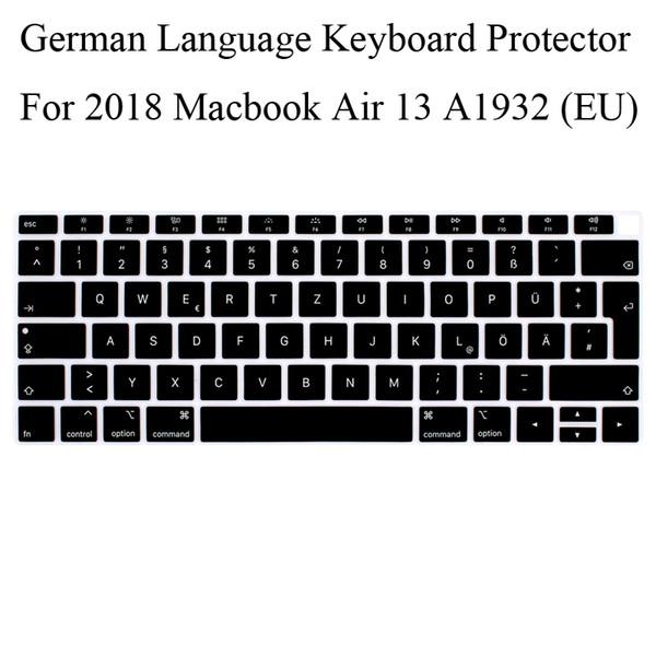 German Keyboard Protector For 2018 New Macbook A1932 EU Layout Keyboard Cover Mabook.3 Silicone Skin Germany Guard