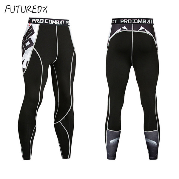 best selling New 2018 Cycling pants Mens Compression Pants 3D Print Quick Dry Skinny Leggings Tights Fitness MMA Stitching Tousers