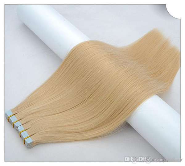 SUPER QUALITE Bande Dans Les Extensions De Cheveux Remy Indien Double Drawn PU Extension De Cheveux 100g 40pcs 14 '' 16