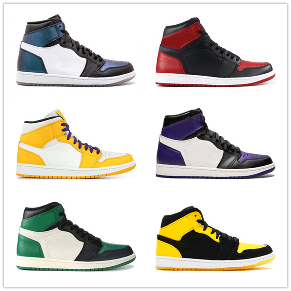 2019 fall fashion men's basketball shoes Chicago black and white red high-top fashion trend men's and women's casual sneakers36-45 n50