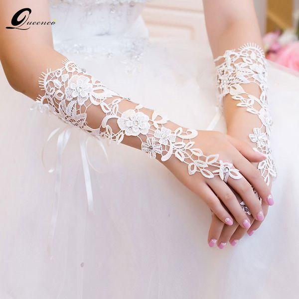 Cheap Wrap 2 pcs Lace Bridal Bracelets Wedding Hand Accessories Bridesmaid Long Bracelets & Bangles Bracelet Women Rhinestone Jewelry