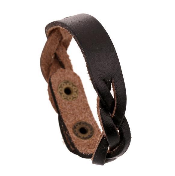 PK0407 Stock sale Factory PrStuds on leather bracelet wholesale leather bracelet blanks Man women braided leather bracelets