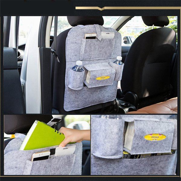 2019 Auto Car Back Seat Storage Bag Car Seat Cover Organizer Holder Bottle Box Magazine Cup Phone Bag Backseat Organizer free shipping