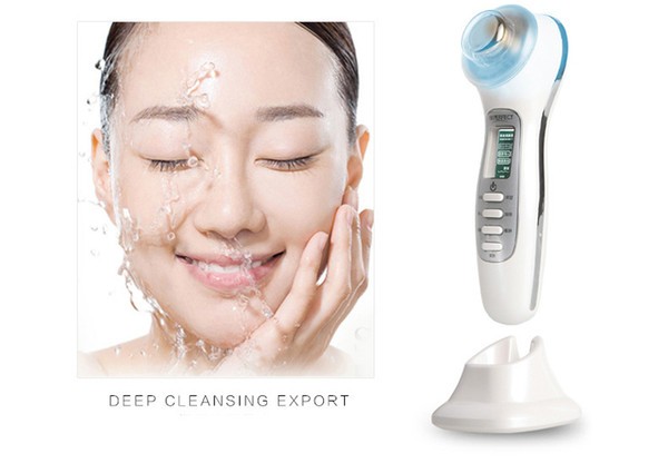 UP002 3MHz Ultrasonic Massage Skin Care Galvanic Facial Deep Cleaning Face Lift 4 LED Light Photon Acne Removal Spa Beauty Machine