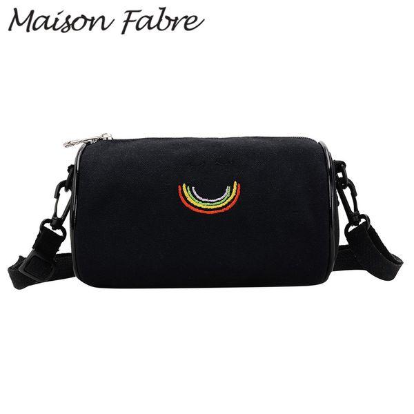 Maison Fabre Bag men women canvas shoulder bag cute cartoon girl small square crossbody for women 2019 Ladies zipper handbag