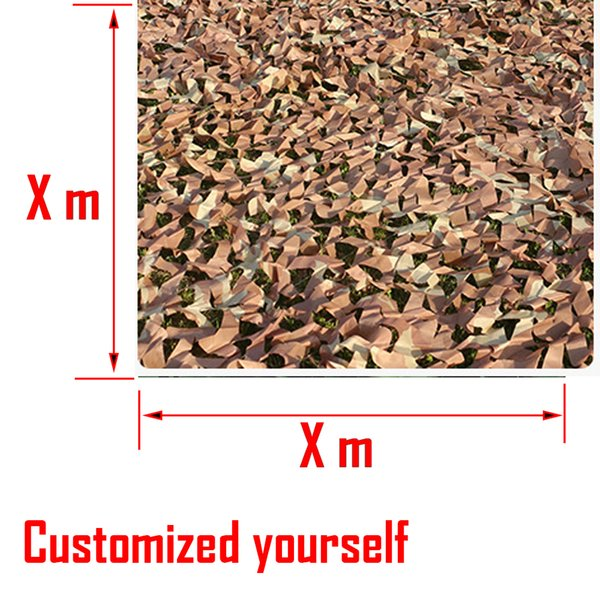 Customized Sizes Camouflage Nets Camo Mesh Strips Camouflage Net Car Cover Army Camping Sun Shelter Tent Cover Hunting