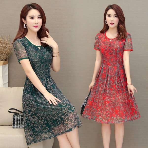 Lockeres, mittellanges, edles Chiffon-Overknee-Kleid für Frauen