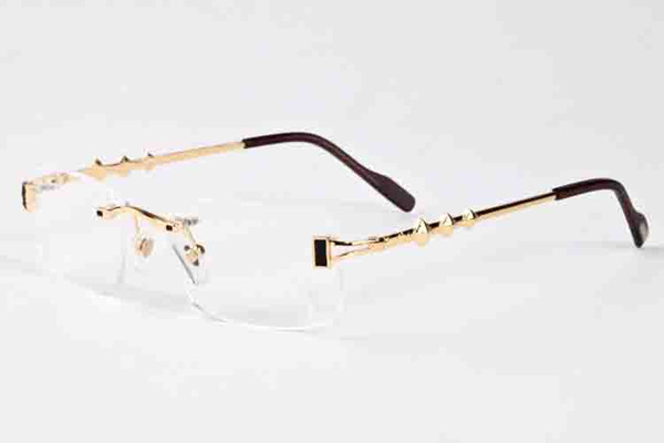 luxury-new brand designer sunglasses women with metal frame brands luxury rimless sun glasses driving high quality polarized UV 400 sunglass