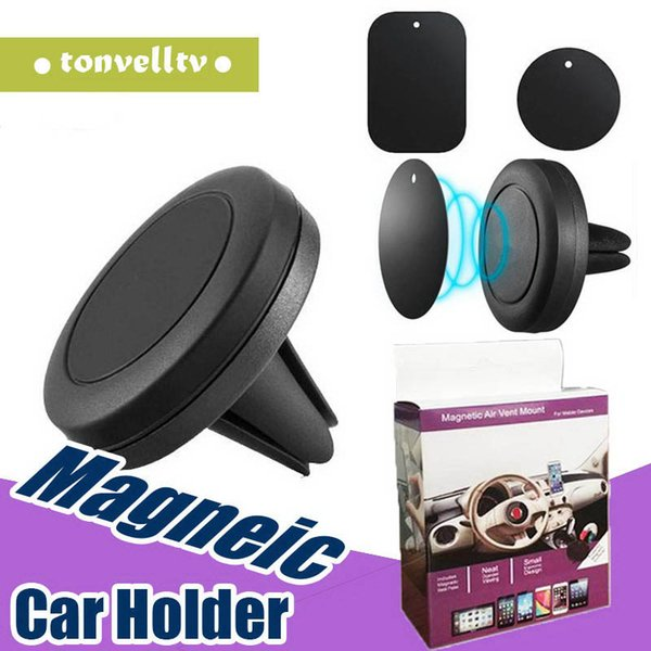 Magnetic Dashboard Car Air Vent Cell Phone Mount Holder for Ip 7 8 X 6s 6splus Samsung s7 S8 S9 S10 for All phones