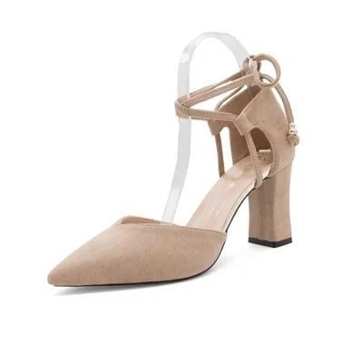 Классическая обувь Весна новый европейский и американский стиль диких высоких каблуках кружева повседневная женская корейская версия светлый ремешок студентов comf