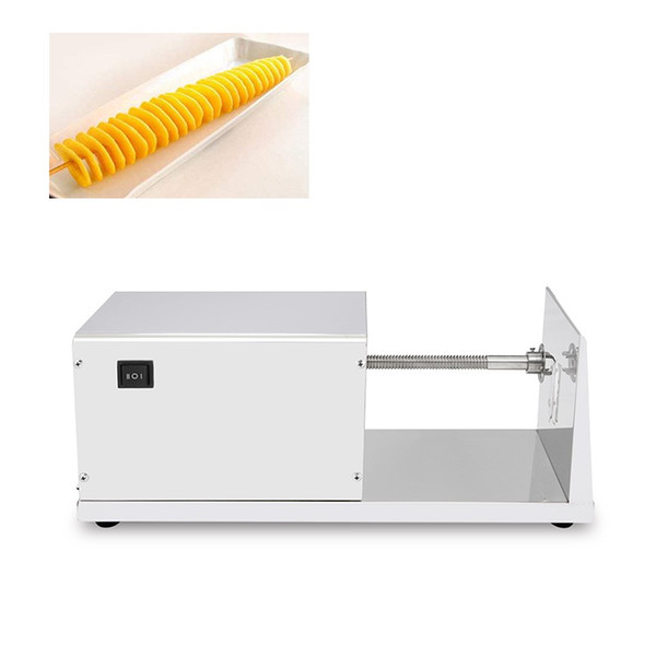 Commercial Electric Potato Twister Cutter 110V 220V Tornado Potato Slicer Spiral French Fries Chips Maker Cutter Machine
