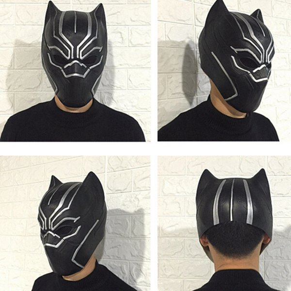 Vendita calda all'ingrosso Black Panther Masks Movie Fantastic Four Cosplay Maschera di lattice per Halloween Party