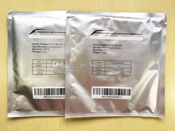 Anticongelante membrana Cryo Pad 27 * 30cm 34 * 42cm anticongelación membrana anticongelante de membrana de la almohadilla de Pad fresco para cuerpo fresco esculpir tratamiento
