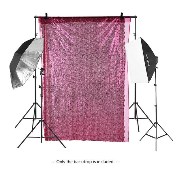 Photographie Fond Shimmer Sequin Photo Booth Toile de Fond Table Coureur Fenêtre Rideau DIY Tissu pour la Fête De Mariage De Noël