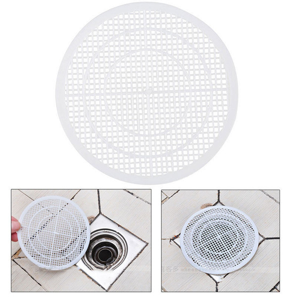 best selling 1 piece Household Drain Hair Catcher Bath Stopper Plug Sink Strainer Filter Shower Cover Trap, White