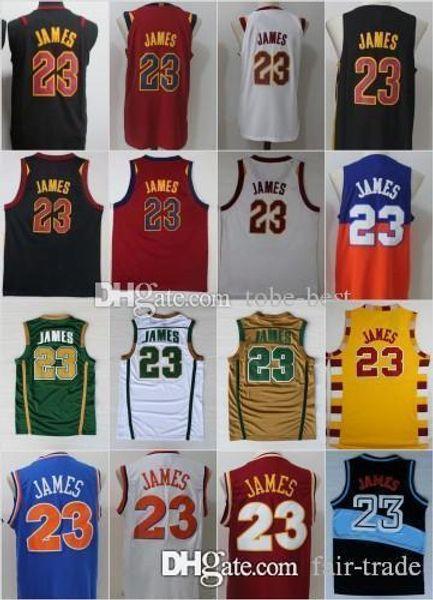 NCAA Cleveland 23 LeBron James Jerseys Cavaliers Men St. Vincent Mary High  School Irish 1ca14f375