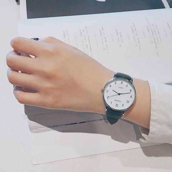 Women Quartz Wristwatches Couple Lady Female Watches Leather Band Bracelet Small Dial Wrist Watch Reloj Mujer