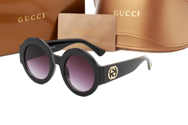 Brand Designer Round Metal Sunglasses Uomo Donna Steampunk Fashion Occhiali Retro Vintage Occhiali da sole con custodie gratuite