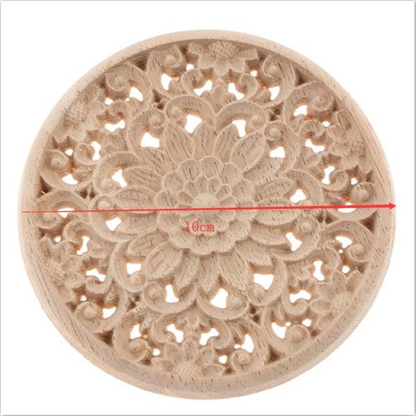 natürliche hölzerne Blume Ecke Onlay Applique Rahmen Heimtextilien Sturz Wand Ecke Rahmen Dekor Handwerk
