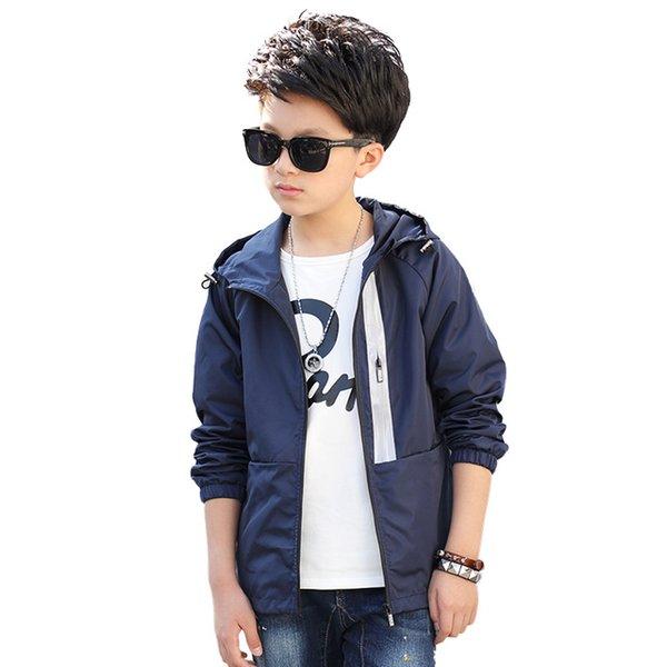 Children Outerwear Kids Sporty Solid color Jackets Double-deck Waterproof Windproof Boys Jackets