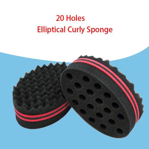 Oval Double Sides Afro Wave Magic Hair Twist Braiders Dreads Twisting Locks Dreadlocks Curl Brush Sponge Tools