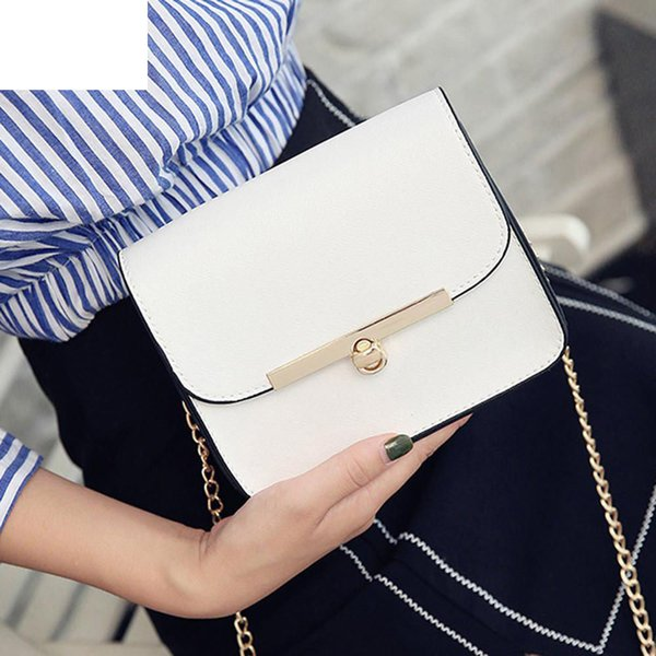 2019 New Women Messenger Shoulder Bag Ladies Small Clutches Chain Crossbody Bags Tote High Quality Pu Leather Hasp Handbags