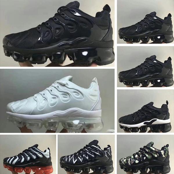 Nike Air TN Plus 2018 Tn Plus Enfants Chaussures De Course Pas Cher Bébés Garçons Filles Camo Noir Blanc Sports Sneakers Run Chaussures Plus TN Maxes Designer Chaussures