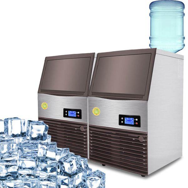 ÜCRETSIZ KARGO Ticari Endüstriyel Kare Buz Bloğu Yapma Makinesi Ice Cube Makinesi İş Makinaları Kare Buz Makinesi