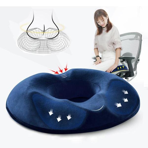 Cojín de asiento de espuma de memoria de confort Cojín de silla de oficina transpirable Alineamiento de la espina Cojín de silla para aliviar el dolor de espalda sentado BC BH0762