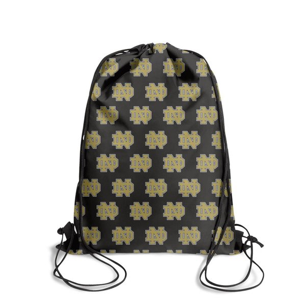 Notre Dame Fighting Irish LogoFashion sports belt backpack, design cool limited edition reusable string package, suitable for gym