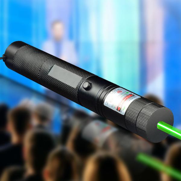 Green Laser pointer pen adjustable focus lit match Leisure 303 keyed Star 22mmX158mm (not included battery) 90PCS/LOT
