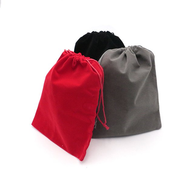 Gift Bags 17x23cm 5Pc Candy Bags Drawstring Wedding Favor Cheap Jewelry Pouch Small Velvet Jewelry Christmas Gift Pouches Custom