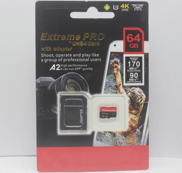2019 Sıcak satış en son en iyi 128 GB 256 GB 64 GB 32 GB Adaptör Blister Jenerik Perakende Paketi Ile SD kart sıcak satış