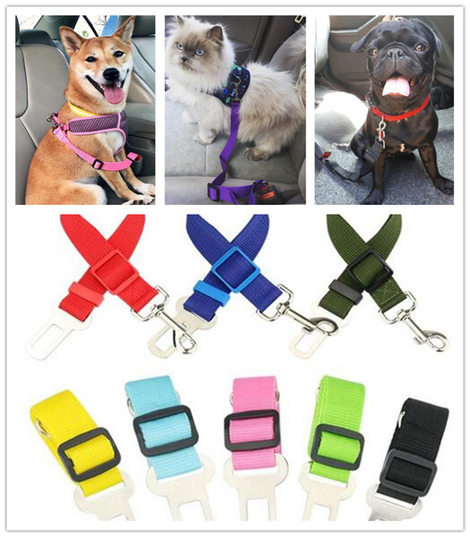 top popular Dog Pet Car Seat Safety Belt Harness Restraint Adjustable Lead Leash Travel Clip Dogs Supplies Accessories 2019