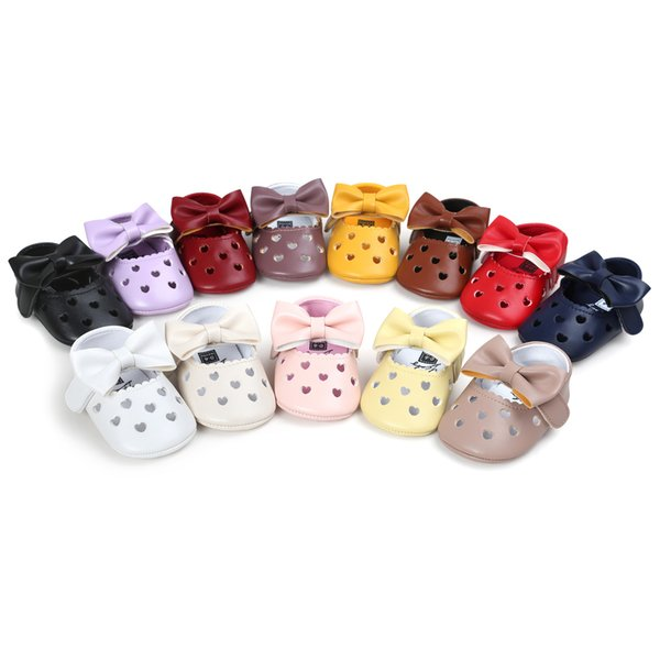 28 Style infant shoes heart non-slip princess first walkers soft bottom latest design kids girl shoes