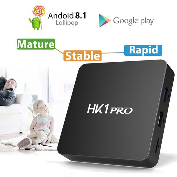 HK1 PRO Smart TV BOX Android 8.1 DDR4 4GB 64GB Amlogic S905X2 Quad Core USB3.0 2.4G/5G Dual WIFI Bluetooth 4K Set Top Box