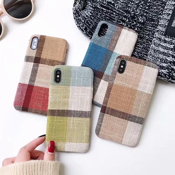 Fabric Made phone Case 5 7 8 6 6s Plus X XS MAX Non-slip Phone Case brands Model Case wholesale price