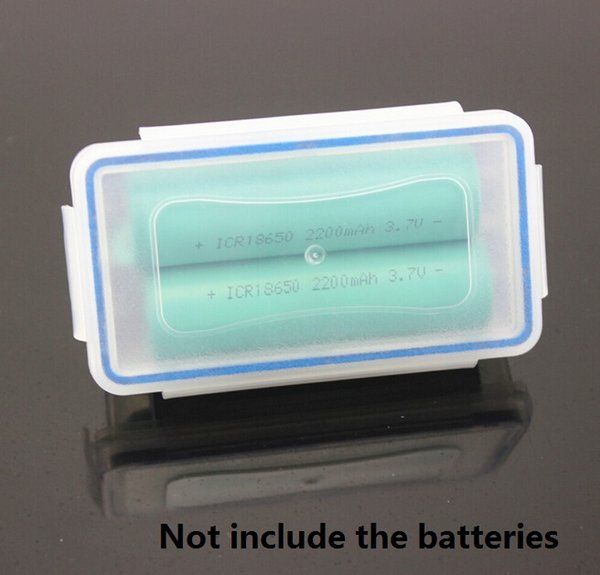 20pcs Home Organization outdoor Transparent 18650 Battery Storage Case seal Holder 18650 battery cell Waterproof storage Boxes Organizer