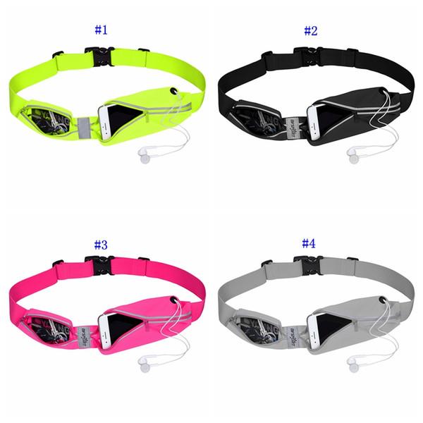 Cinturón para correr Corredores reflectantes Cinturón Cintura Riñonera Se adapta a todos los teléfonos y más Funda impermeable para gimnasio Soporte para teléfono MMA2294