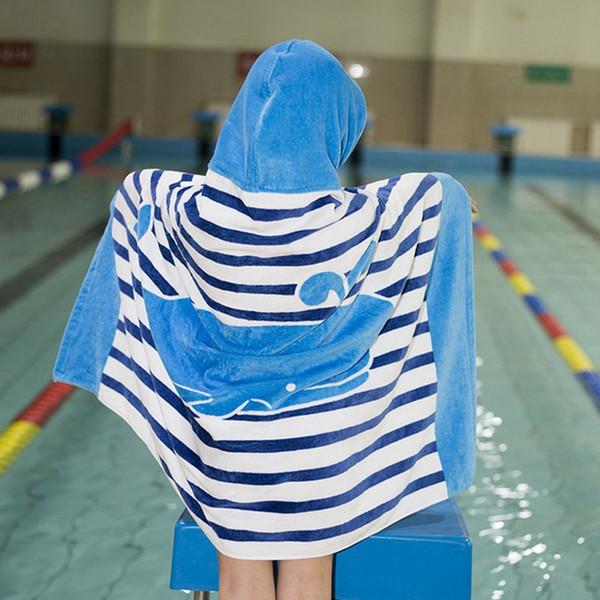Venda quente com capuz toalha de banho para crianças Meninos Meninas 2 a 8 anos, secagem rápida toalha de praia para Swim Pool Ultra Absorvente Co 100%