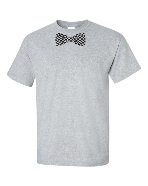 Клетчатое платье для галстука-бабочки BOWTIE Tuxedo College Party Мужская футболка