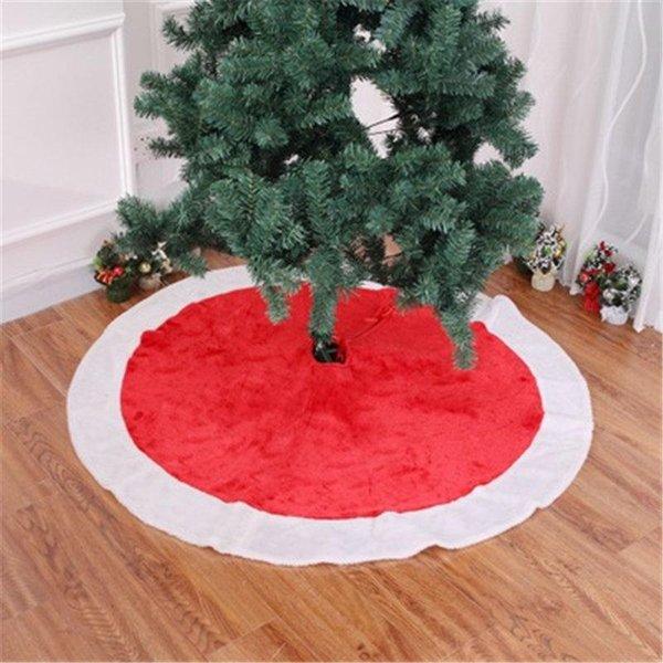 120cm Doux Rouge Simple Arbre De Noël Jupes Robe Home Party Joyeux Noël Décorations Drop Ship 110201