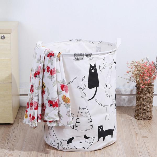 Folding Laundry Storage Basket for Toys Geometry Storage Barrel Standing Clothing Storage Bucket Laundry Organizer Holder
